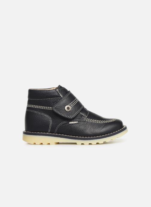 Zapatos con velcro Pablosky Eldo Azul vistra trasera
