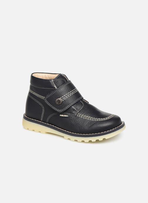 Velcro shoes Pablosky Eldo Blue detailed view/ Pair view