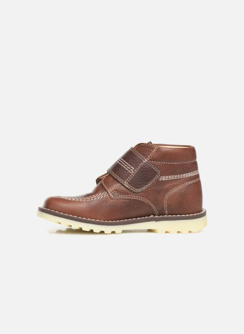 Zapatos con velcro Pablosky Eldo Marrón vista de frente