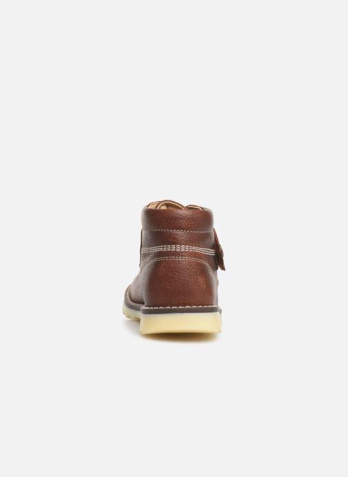 Zapatos con velcro Pablosky Eldo Marrón vista lateral derecha