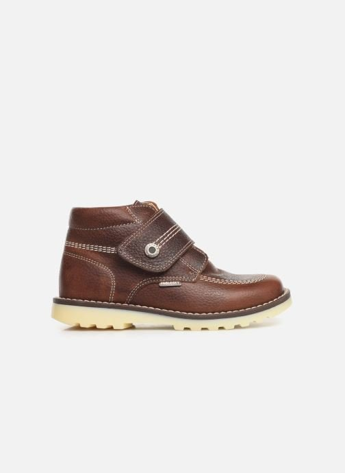 Zapatos con velcro Pablosky Eldo Marrón vistra trasera