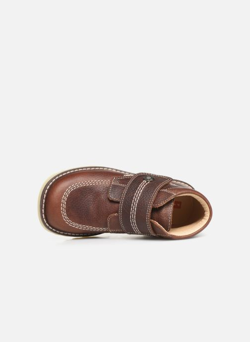 Zapatos con velcro Pablosky Eldo Marrón vista lateral izquierda
