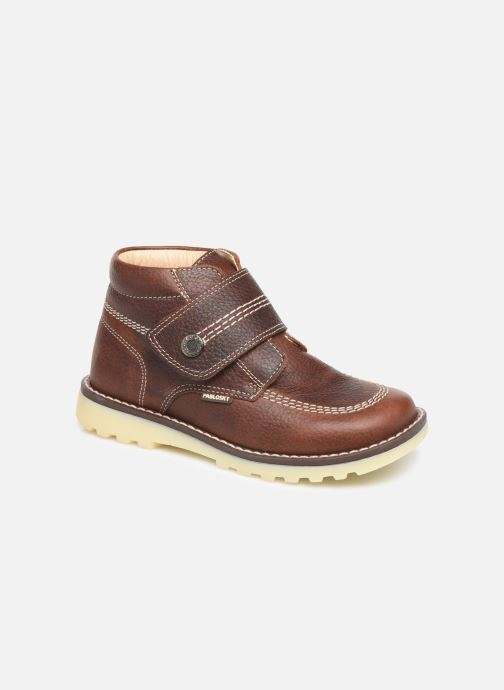 Velcro shoes Pablosky Eldo Brown detailed view/ Pair view