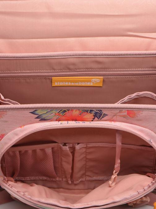 Schooltassen Stones and Bones LILY 38CM Roze achterkant