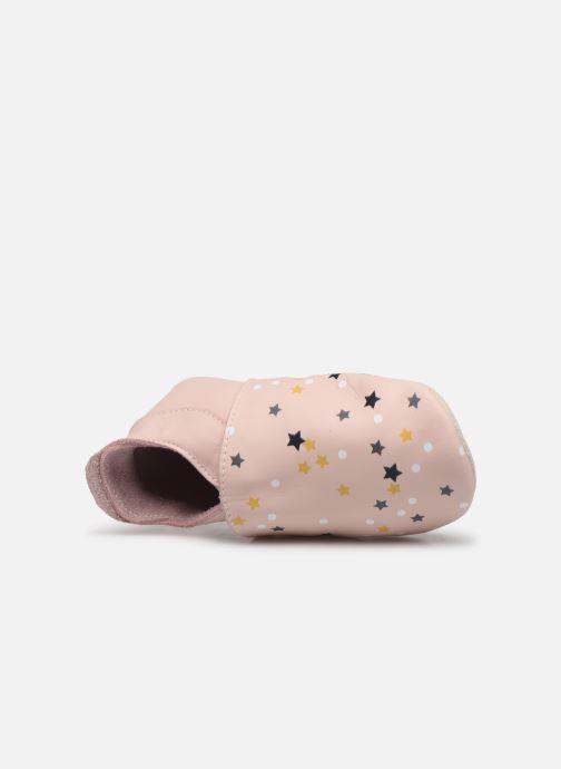 Pantuflas Bobux Voie Lactée Rosa vista lateral izquierda