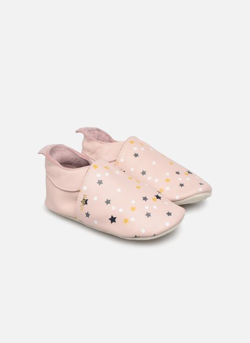 Slippers Bobux Voie Lactée Pink detailed view/ Pair view