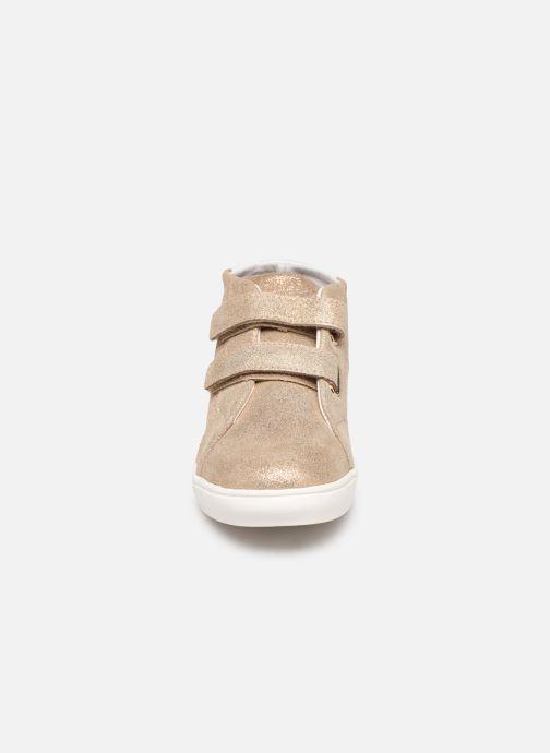 Baskets Faguo Aspenv S Or et bronze vue portées chaussures