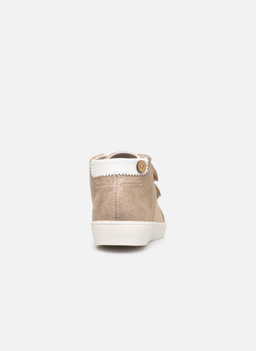 Baskets Faguo Aspenv S Or et bronze vue droite