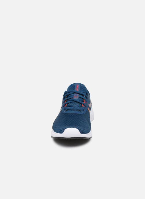 Chaussures de sport Asics Patriot 11 GS Bleu vue portées chaussures