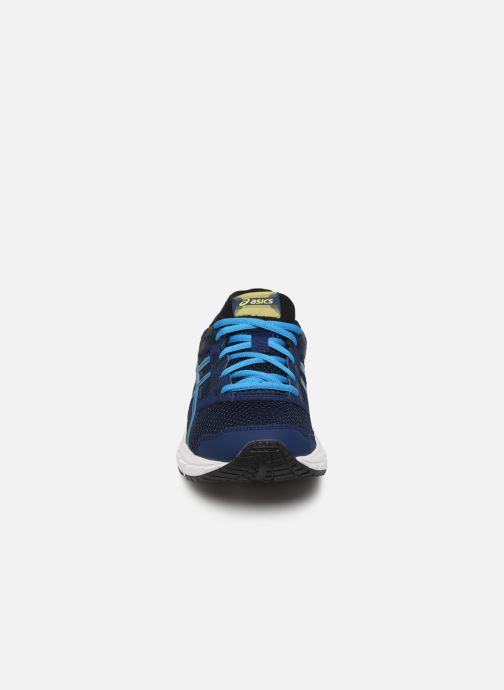 Sportschuhe Asics Contend 5 GS blau schuhe getragen