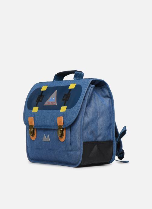 Per la scuola Poids Plume CARTABLE 38CM SKATE Azzurro modello indossato