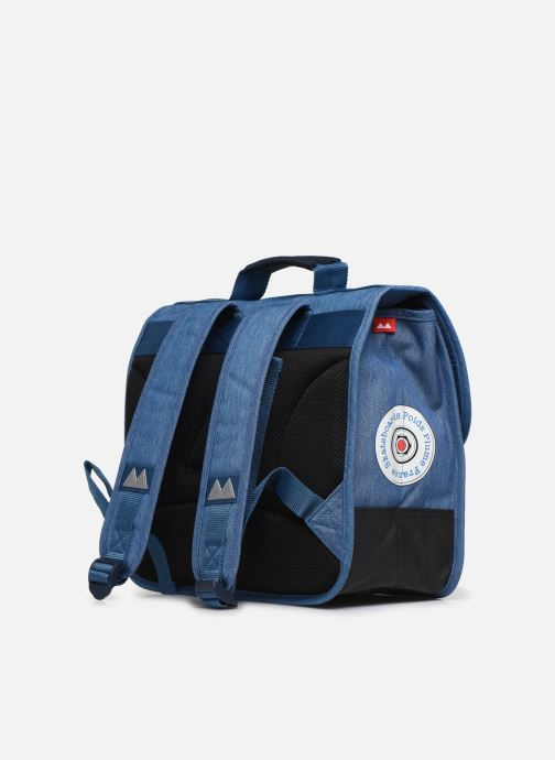 School bags Poids Plume CARTABLE 38CM SKATE Blue view from the right
