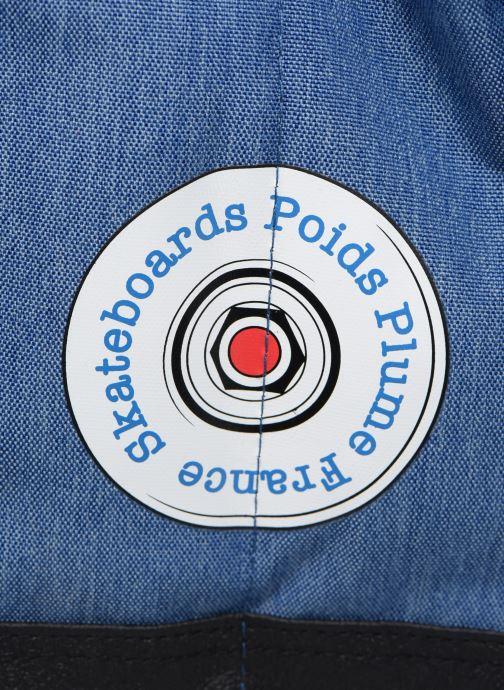 Per la scuola Poids Plume CARTABLE 38CM SKATE Azzurro immagine sinistra