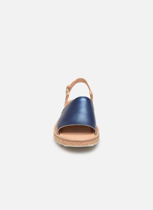 Sandalen Camper PimPom K200380 blau schuhe getragen