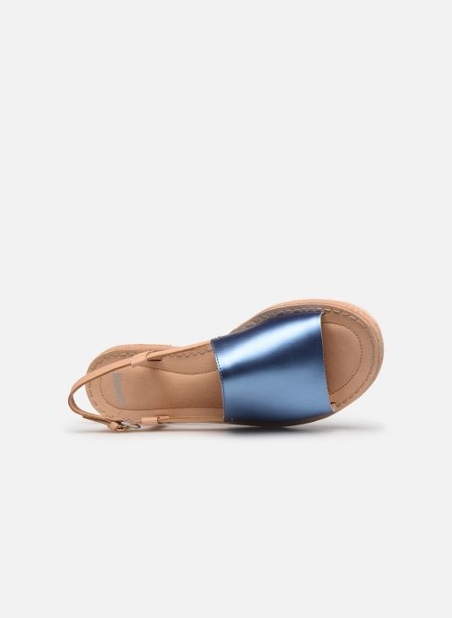 Sandalen Camper PimPom K200380 blau ansicht von links