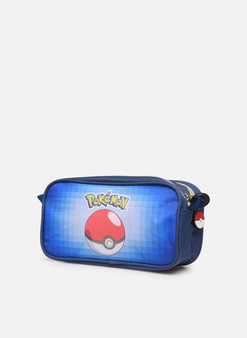 Scolaire Pokemon TROUSSE 2 COMPARTIMENTS POKEMON Bleu vue droite