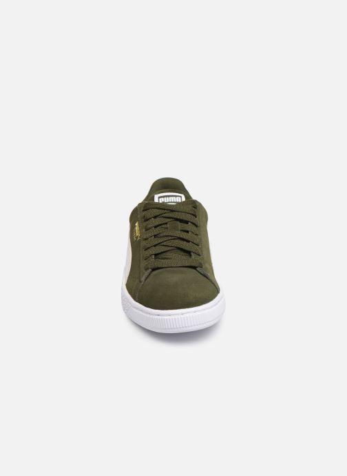 Baskets Puma Suede Classic W Vert vue portées chaussures