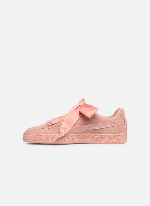 Baskets Puma W Suede Heart Ep Rose vue face