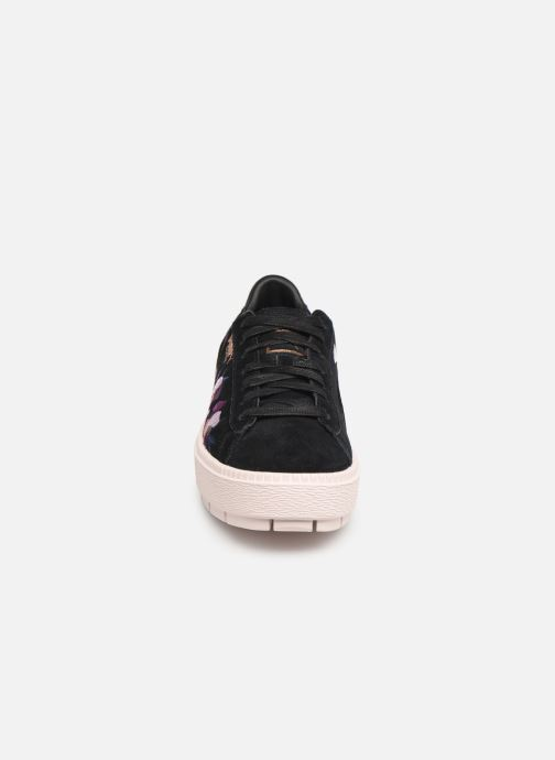 Baskets Puma Wn Platform Trace Flowery Noir vue portées chaussures