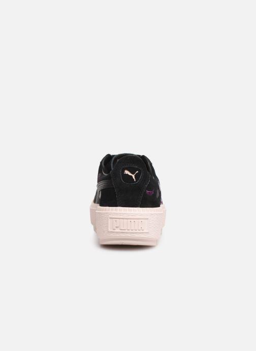 Baskets Puma Wn Platform Trace Flowery Noir vue droite