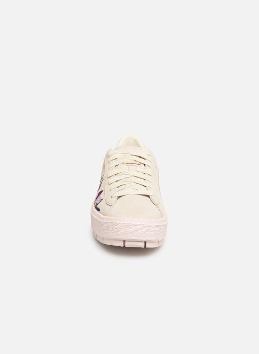 Baskets Puma Wn Platform Trace Flowery Blanc vue portées chaussures