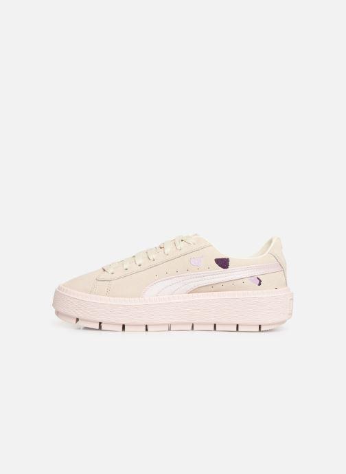 Sneakers Puma Wn Platform Trace Flowery Wit voorkant