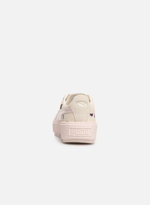 Baskets Puma Wn Platform Trace Flowery Blanc vue droite