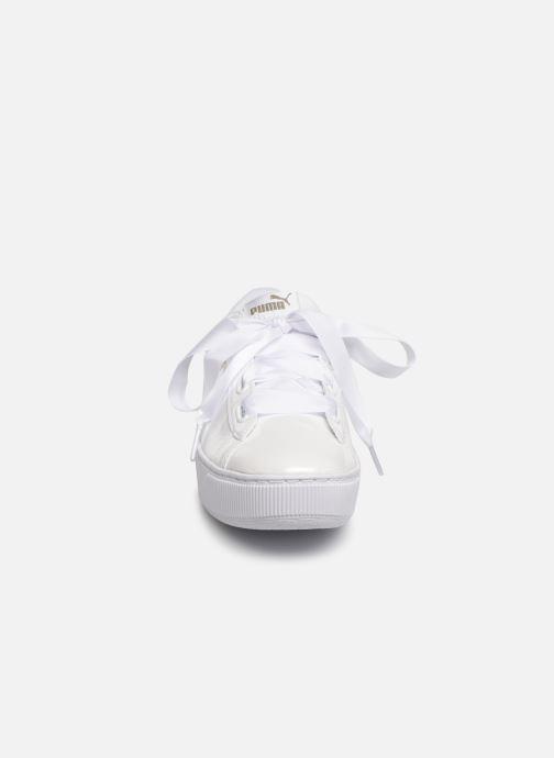 Baskets Puma Wns Vikky Platf Rib P Blanc vue portées chaussures