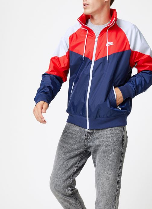 Vêtements Nike Veste Windrunner homme Nike Sportswear HD + Bleu vue droite