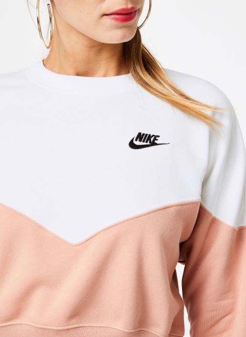 Vêtements Nike Sweat Molleton Femme Nike Sportswear Heritage Rose vue face