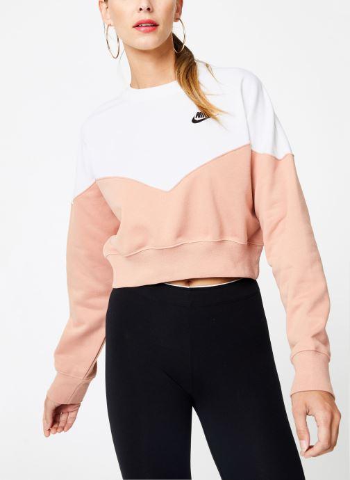 Vêtements Nike Sweat Molleton Femme Nike Sportswear Heritage Rose vue droite