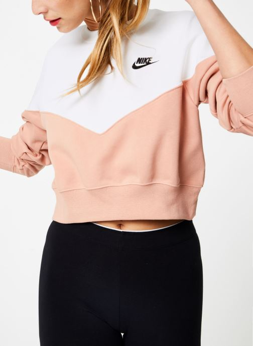 Vêtements Nike Sweat Molleton Femme Nike Sportswear Heritage Rose vue détail/paire
