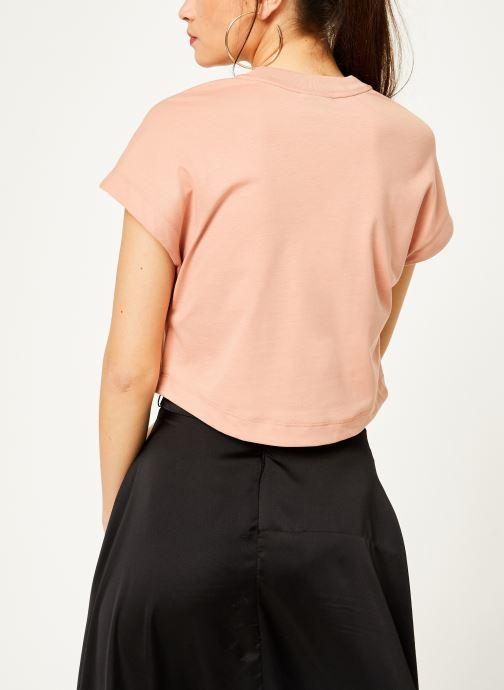Kläder Nike Tee-Shirt court Femme Nike Sportswear Rosa bild av skorna på