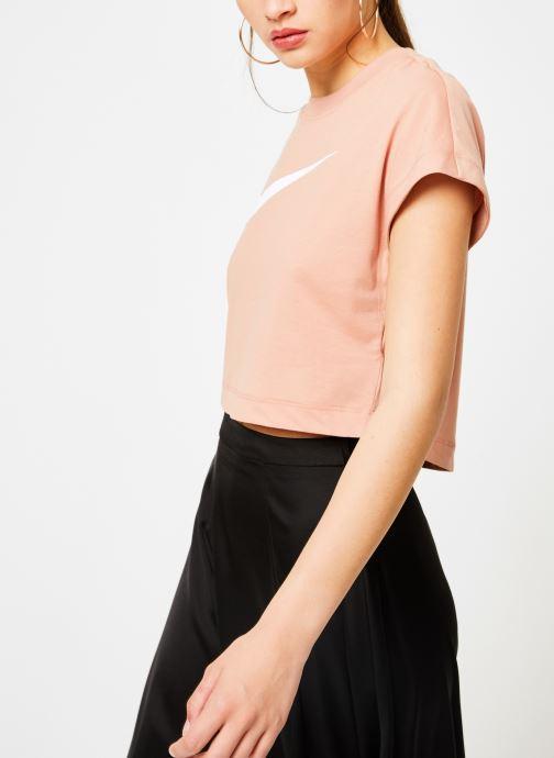 Kläder Nike Tee-Shirt court Femme Nike Sportswear Rosa Bild från höger sidan
