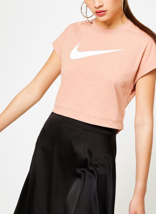 Kläder Nike Tee-Shirt court Femme Nike Sportswear Rosa detaljerad bild på paret