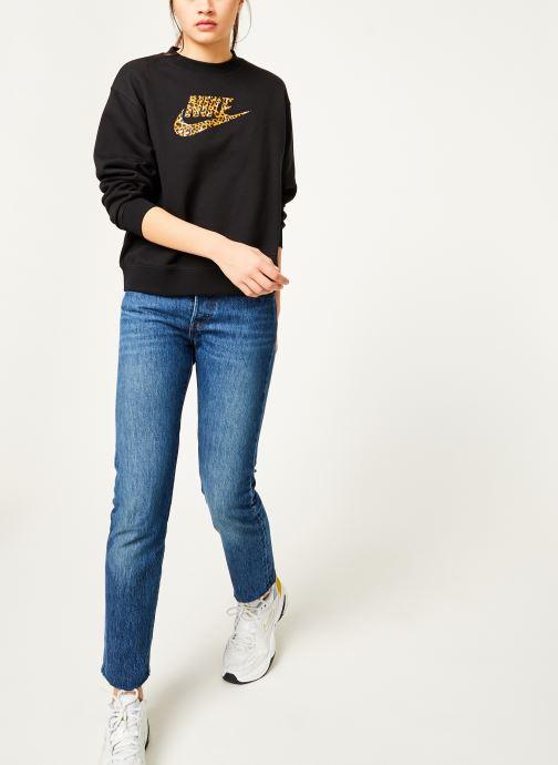 Kleding Nike Sweat Femme Nike Sportswear Imprimé Léopard Zwart onder