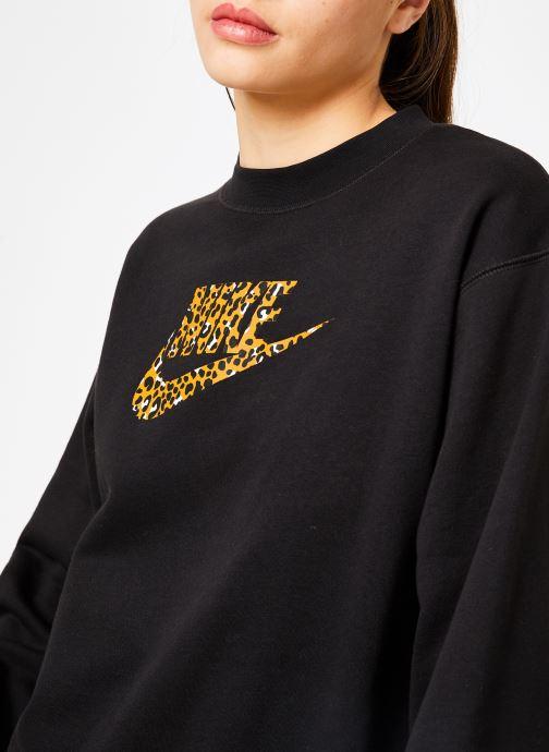 Kleding Nike Sweat Femme Nike Sportswear Imprimé Léopard Zwart voorkant