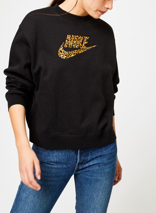 Kleding Nike Sweat Femme Nike Sportswear Imprimé Léopard Zwart rechts