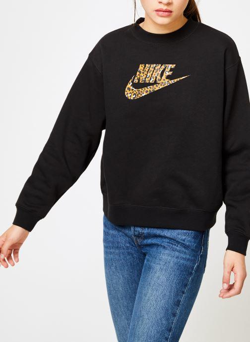 Kleding Nike Sweat Femme Nike Sportswear Imprimé Léopard Zwart detail
