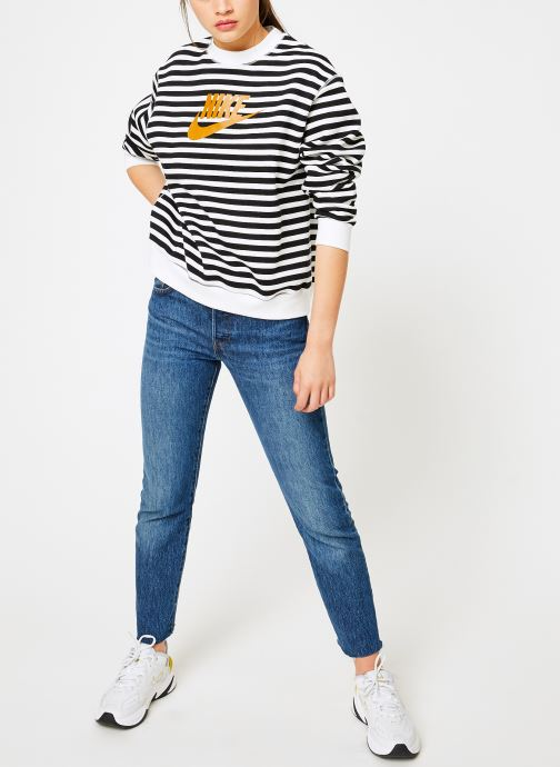 Vêtements Nike Sweat Femme Nike Sportswear Imprimé Léopard Blanc vue bas / vue portée sac