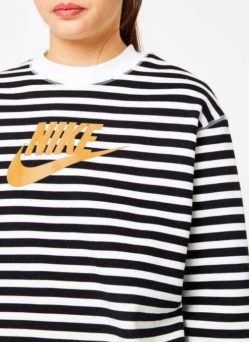 Vêtements Nike Sweat Femme Nike Sportswear Imprimé Léopard Blanc vue face