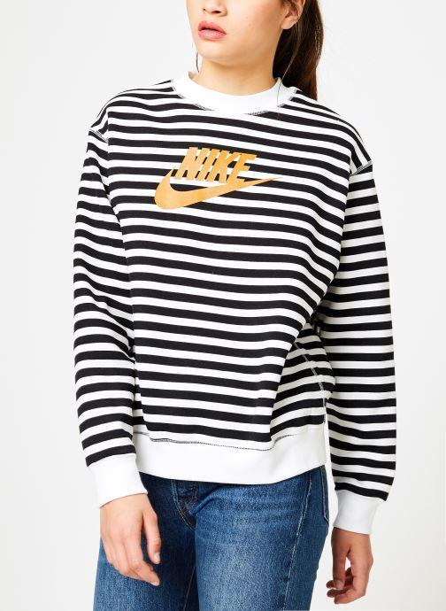 Vêtements Nike Sweat Femme Nike Sportswear Imprimé Léopard Blanc vue droite