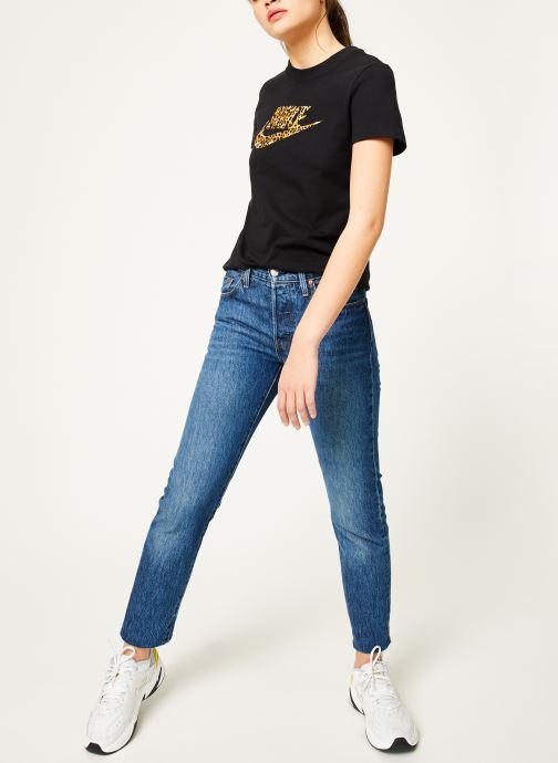 Vêtements Nike Tee-Shirt Femme Nike Sportswear imprimé Léopard Noir vue bas / vue portée sac