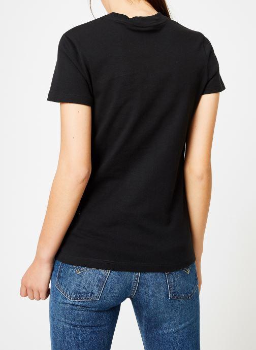 Vêtements Nike Tee-Shirt Femme Nike Sportswear imprimé Léopard Noir vue portées chaussures