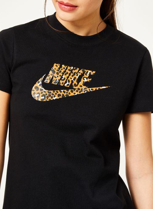 Kleding Nike Tee-Shirt Femme Nike Sportswear imprimé Léopard Zwart voorkant