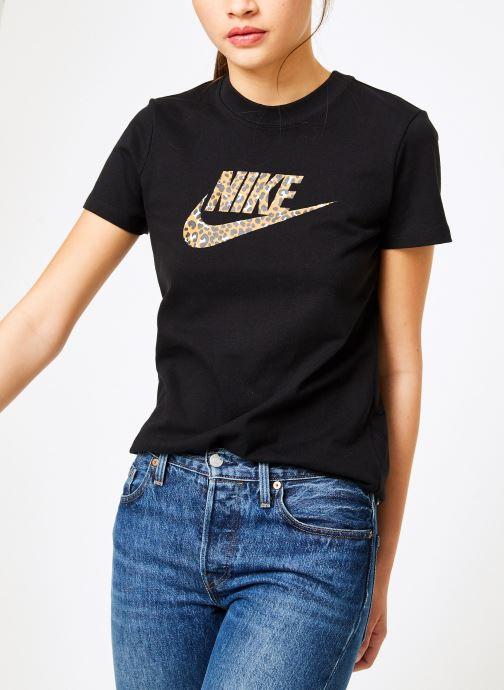 Vêtements Nike Tee-Shirt Femme Nike Sportswear imprimé Léopard Noir vue détail/paire