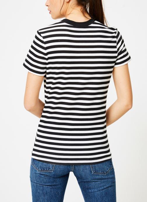 Vêtements Nike Tee-Shirt Femme Nike Sportswear imprimé Léopard Blanc vue portées chaussures