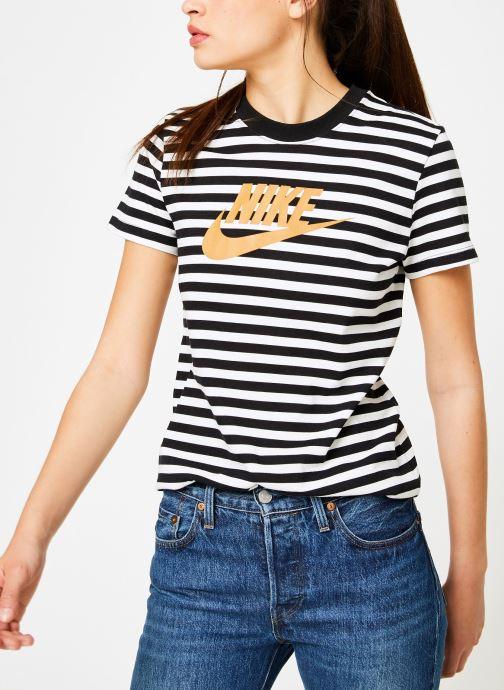 Vêtements Nike Tee-Shirt Femme Nike Sportswear imprimé Léopard Blanc vue détail/paire