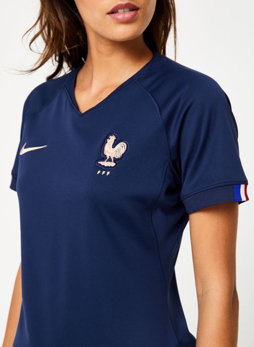 Vêtements Nike Maillot Nike FFF Femme domicile Bleu vue face