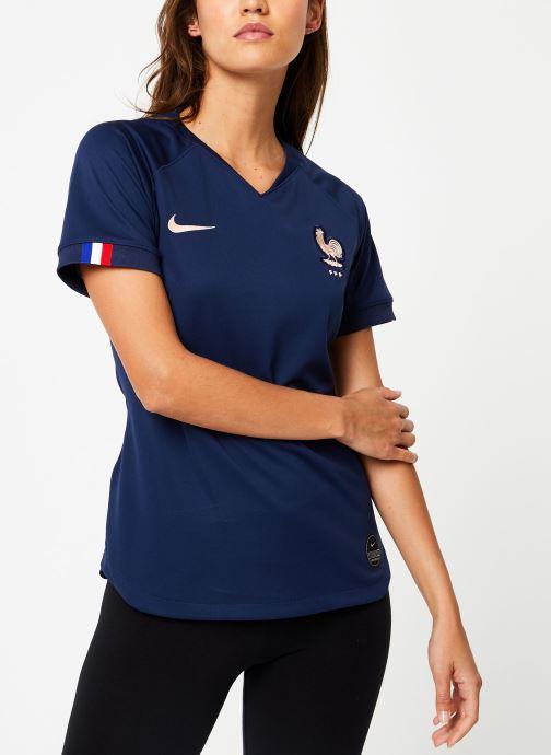 Vêtements Nike Maillot Nike FFF Femme domicile Bleu vue droite